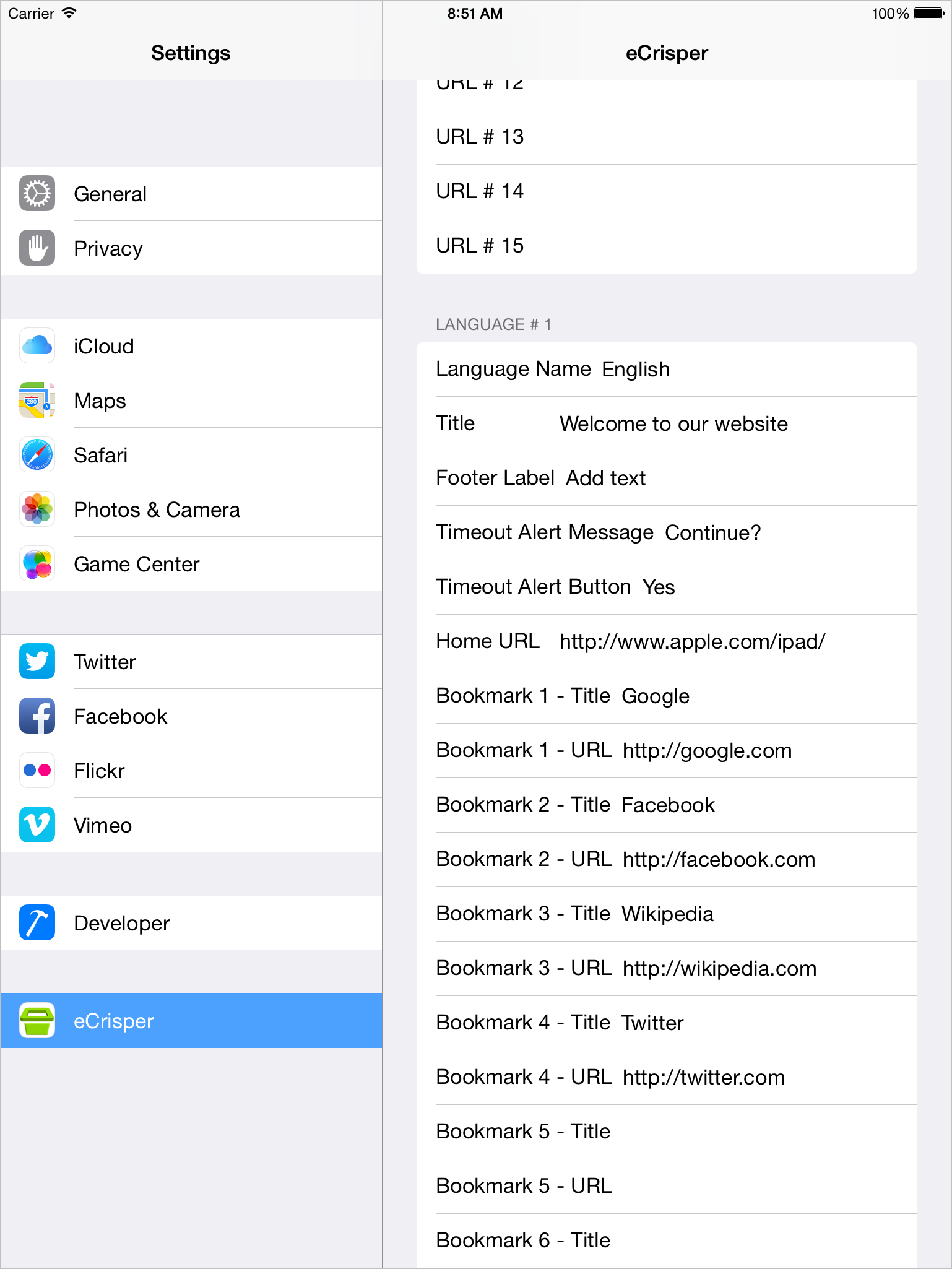 Kiosk Software for iPad - Settings - Screen 3